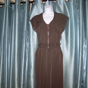 New York & Company Brown Jumpsuit NWT Size S